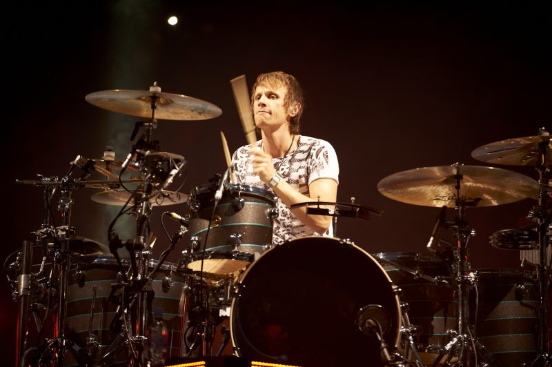 Don Howard of Muse, live at Manchester.