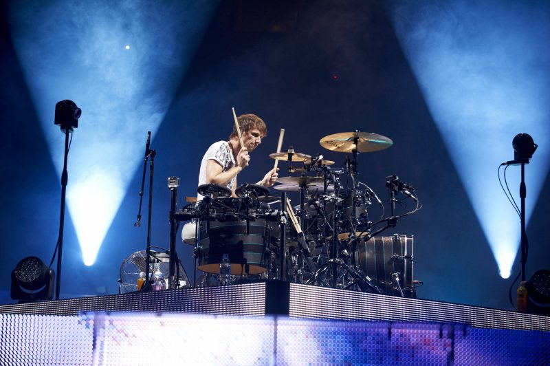 Dom Howard of Muse, live at Manchester.