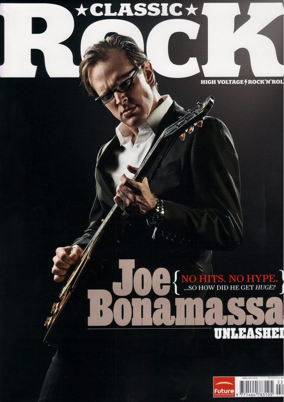 Joe Bonamassa Cover shoot for Classic Rock Magazine
