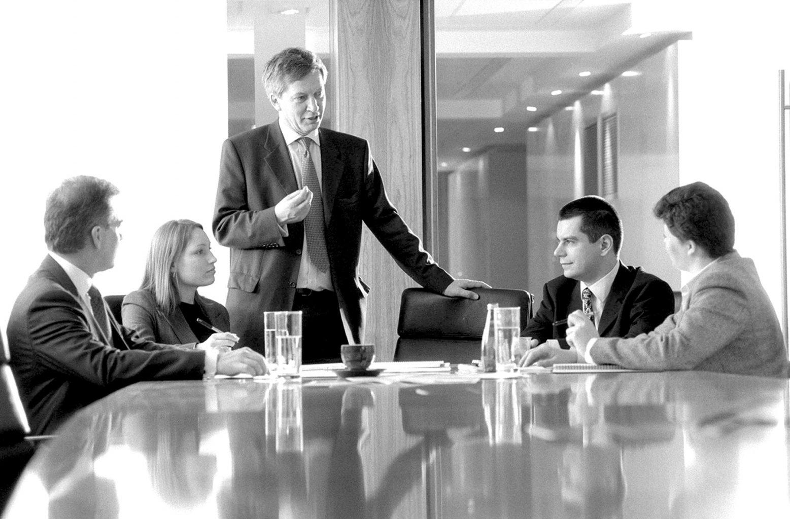 Pantheon Ventures corporate boardroom shot