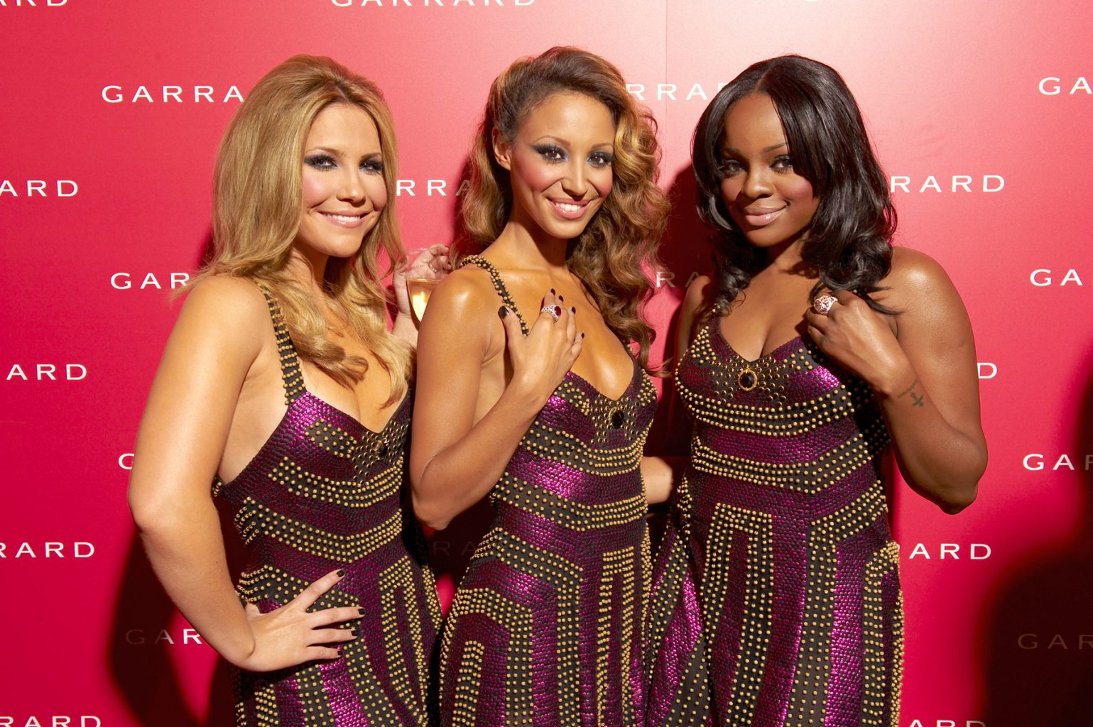 Sugar Babes attend a charity fashion night sponsored by Garrad Jewelers