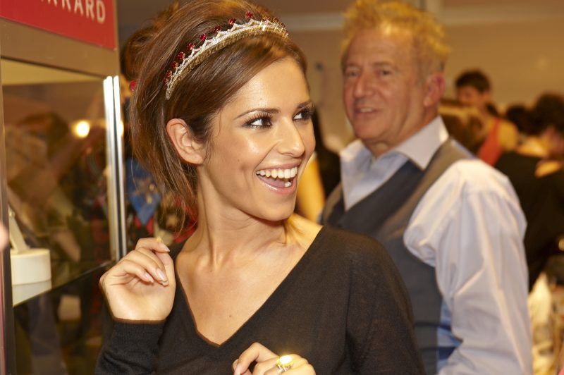 Cheryl Cole at a charity event sponsored by Garrard Jewelers.