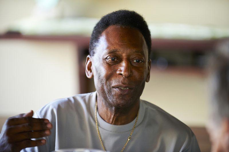 Legendary Pelé photographed at home in Santos, Brazil.