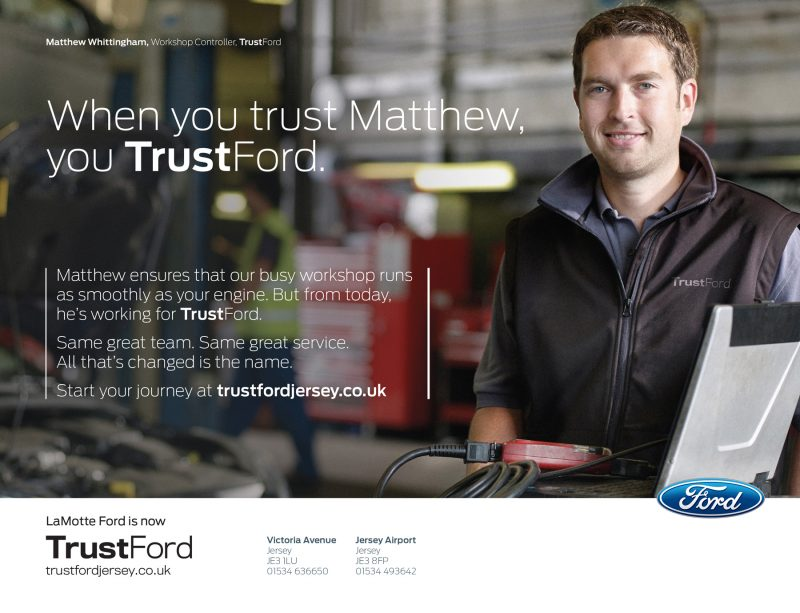 TrustFord corporate branding campaign