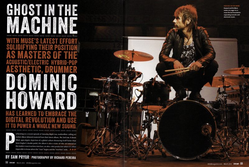 Drummer, Dom Howard from the band Muse.